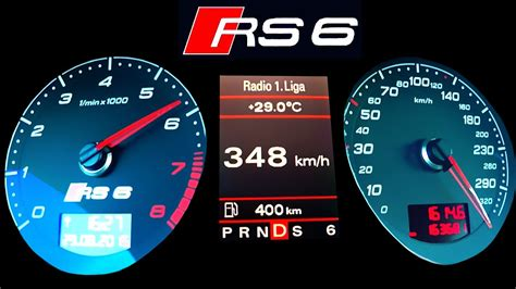 audi rs acceleration   autobahn top speed onboard