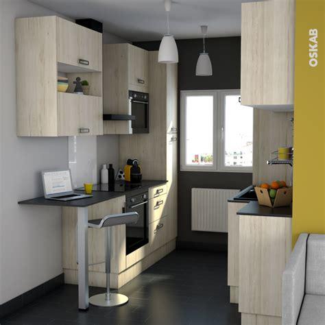 cuisine oskab façades de cuisine 2 tiroirs n 61 ikoro chêne clair l100 x