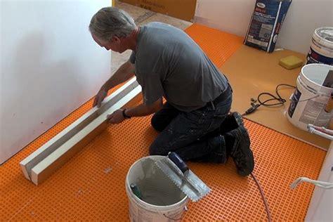 installing  curb   tile shower jlc