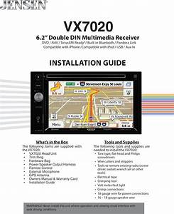 Jensen Vx7020 Installation Manual 128 9293 Guide 03 25 14