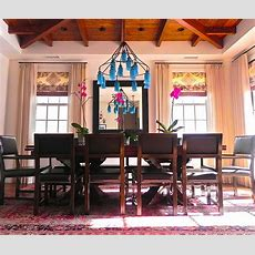 Dining Room Blue Roman Shades Pictures, Decorations