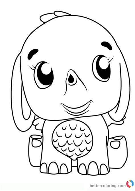 elefly  hatchimals coloring pages  printable coloring pages