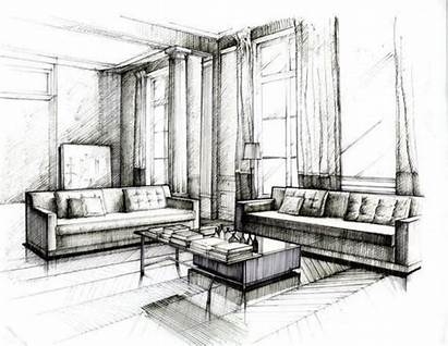 Interior Sketch Sketches Renderings