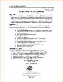 qualification statement on resume statement of qualifications exle sle resume qualification statements 1 jpg sales report
