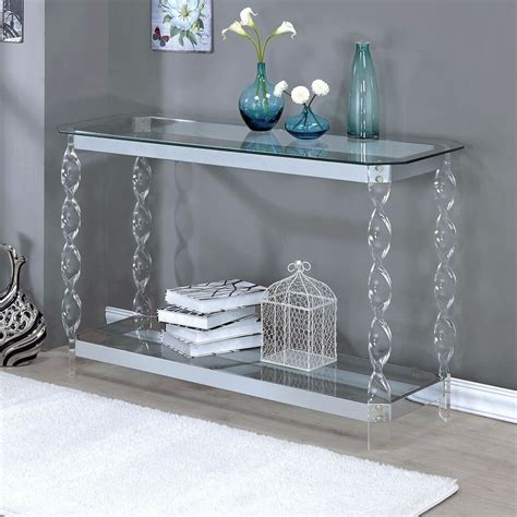 Sofa Table Contemporary by Console Tables For Entryway Chrome Sofa Table Clear Glass