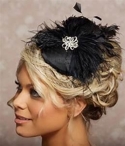 Black Birdcage Veil Fascinator Cocktail Hat Black