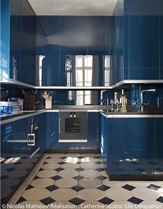 Cuisine bleu marine palzoncom for Couleur bleu canard deco 6 cuisine bleue je fonds pour une cuisine bleue elle