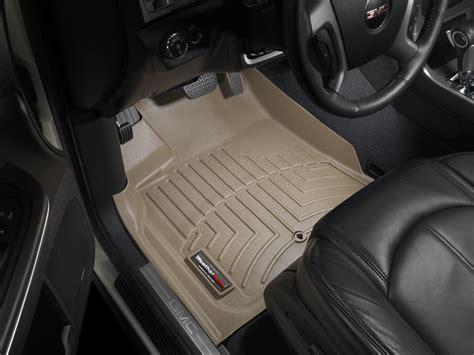 weathertech floor mats buick enclave weathertech floor mats floorliner for buick enclave w buckets 2011 2017 tan ebay
