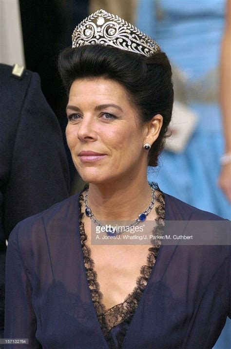 princess caroline  monaco attends  wedding  crown