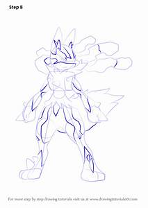 Learn How to Draw Mega Lucario from Pokemon (Pokemon) Step ...