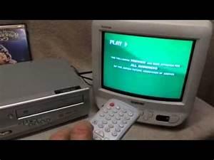 Sony Trinitron Sylvania Dvd  Vcr Combo