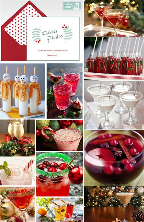 christmas dinner recipes drinks   invitations