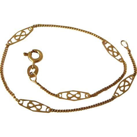 gold bracelet 14k 14k 585 fancy link yellow gold bracelet sold on