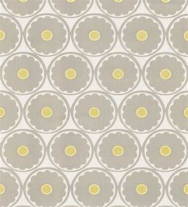 Flower Power Light Gray Retro Floral Wallpaper ...