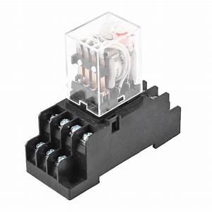 Dc 24v Coil Volt 4pdt 14 Pin Terminal Electromagnetic
