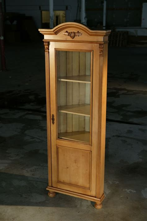 corner cabinet with glass doors hand crafted european corner cabinet with glass door