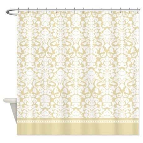 gold damask shower curtain  inspirationzstore