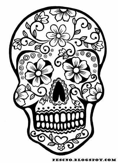 Coloring Halloween Pages Printable Skull Fun Dead