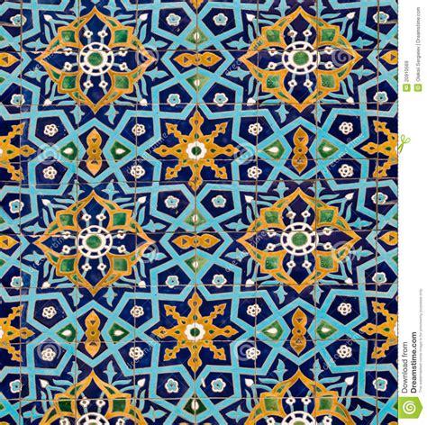 Orientalisches Muster Auf Fliesen Stockbild  Bild Von