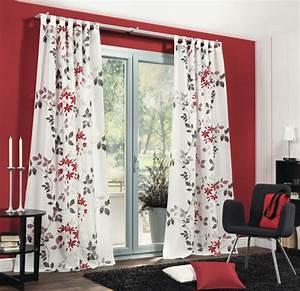 Vorhänge Rot Weiß : schlaufenschal dekoschal fertiggardine 140x245cm rot anthrazit gardinen fertiggardinen ~ Orissabook.com Haus und Dekorationen