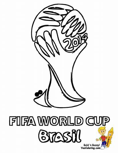 Coloring Soccer Pages Fifa Cup Football Futbol