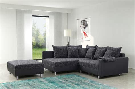 Modernes Sofa Couch Ecksofa Eckcouch In Schwarz Eckcouch