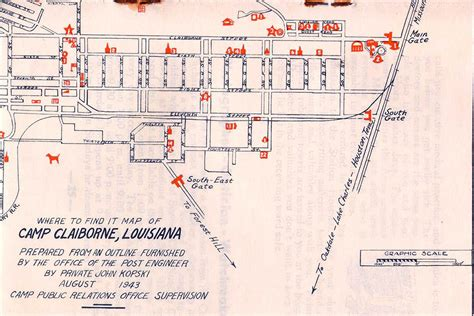 Photo Galleries - Camp Claiborne - Map - 1943 - Camp ...