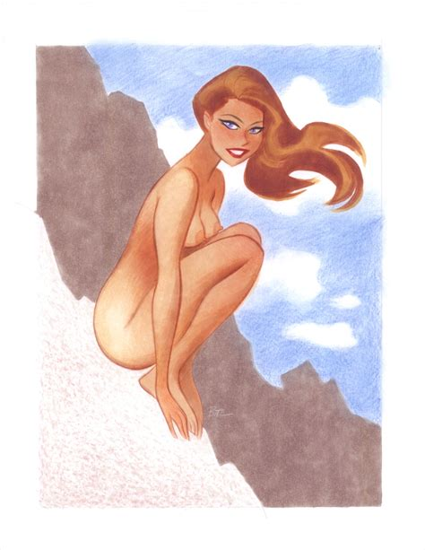 naughty and nice 2013 teaser pin up bruce timm in jon hess s timm bruce nws comic art