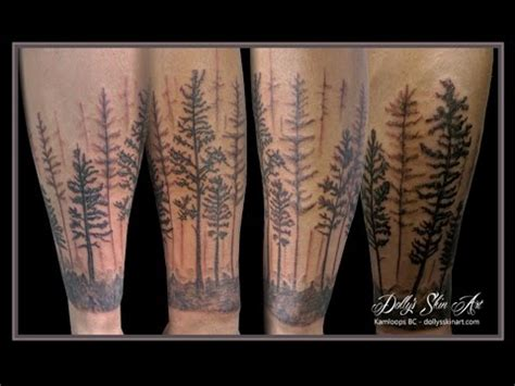 scottys forest scene  sleeve tattoo youtube
