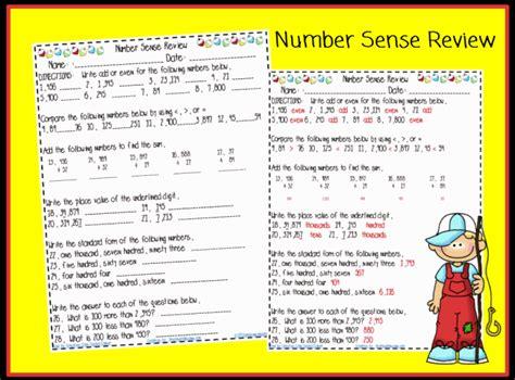 number sense review worksheet printable worksheet