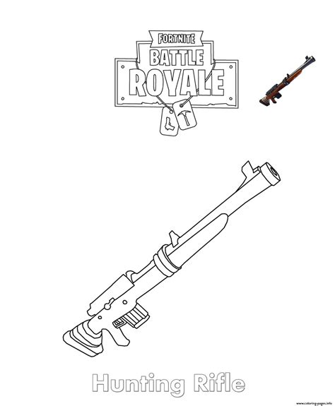 Fortnite Coloring Pages Heavy Shotgun Rainbowrain