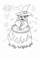 Coloring Cauldron Pages sketch template