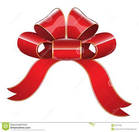 red glossy ribbon bow vector illustration stock