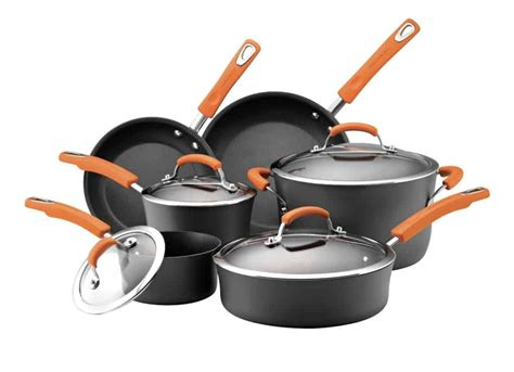 cookware ray rachael anodized hard healthy healthiest pots pans cooking kitchen nonstick quality lid sets brand safe glass aluminum ii