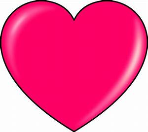 Hot Pink Heart Clipart | Clipart Panda - Free Clipart Images