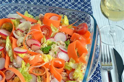 en cuisine avec alain passard salade de céréales saumon crudités frais et croquants