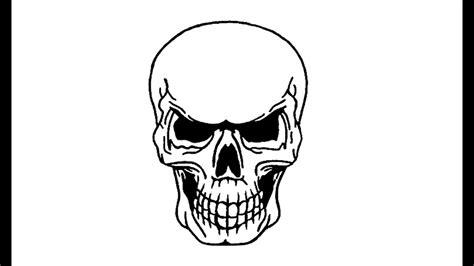 Como desenhar uma Caveira (crânio esqueleto) How to