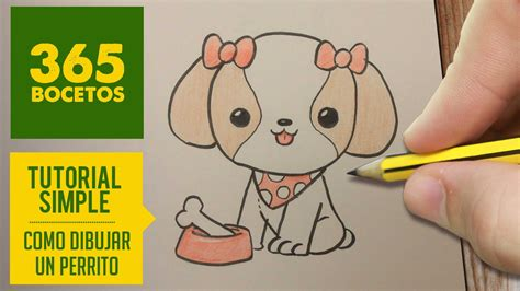 como dibujar perritos kawaii paso a paso dibujos kawaii faciles how to draw a
