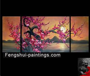 Japanese Cherry Blossom Painting Abstract Art on canvas   eBay