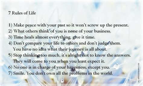 Rules Of Life Quotes Quotesgram