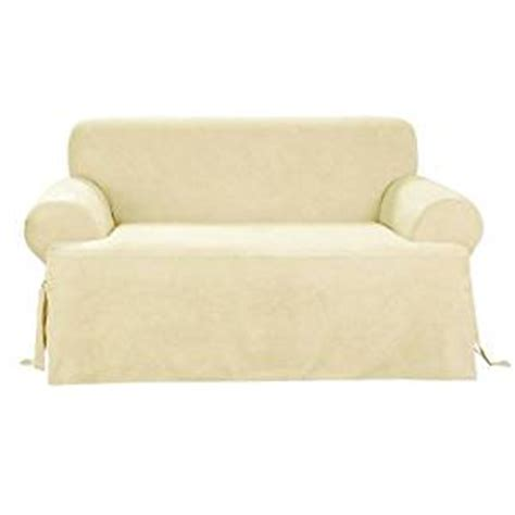 sofa covers online amazon buy sure fit soft suede t cushion sofa slipcover cream