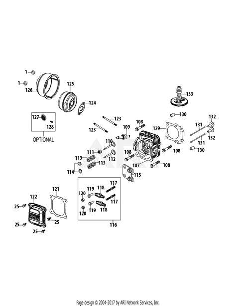 Mtd Tnua Engine Parts Diagram For Cylinder Head