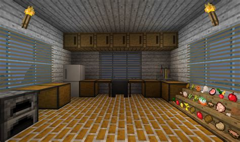 minecraft kitchen    item frames   food