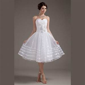 aliexpresscom buy 2015 white organza short wedding With elegant short wedding dresses