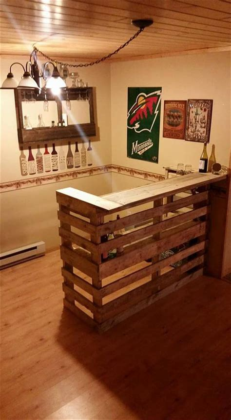 Kitchen Shelving Ideas - diy pallet bar 99 pallets