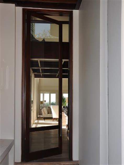 pair 1613 pane with safety rail doors exterior