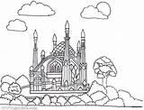 Masjid Coloring Getdrawings Printable Getcolorings sketch template