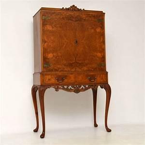 Antique Queen Anne Walnut Cocktail Cabinet