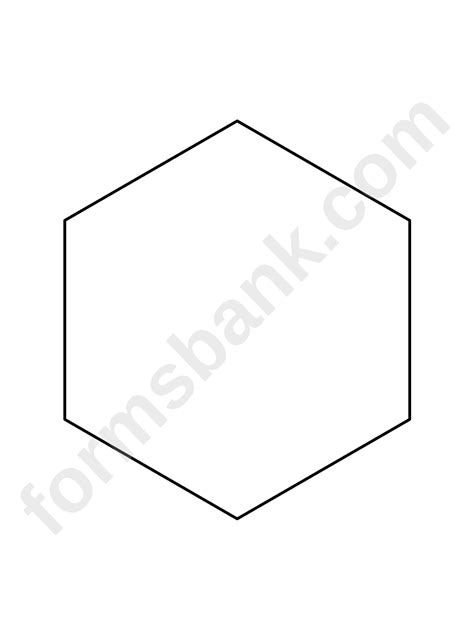 hexagon pattern template printable