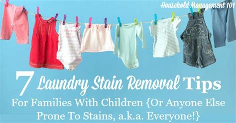 7 Laundry Stain Removal Tips For Families With Children